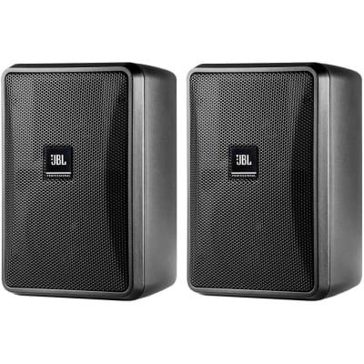 JBL Control 23-1 Compact 2-Way Indoor/Outdoor Passive Surface-Mount Loudspeakers (Pair)