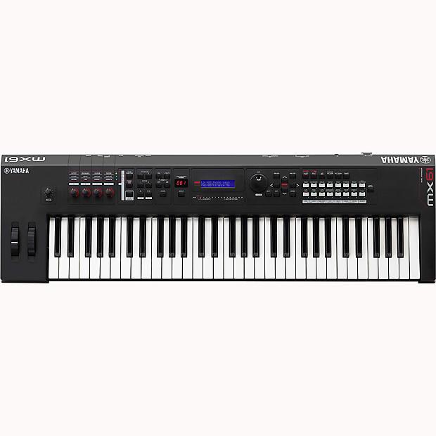 Yamaha mx61 bk 61 key usb midi keyboard synthesizer reverb for Yamaha midi controller keyboard