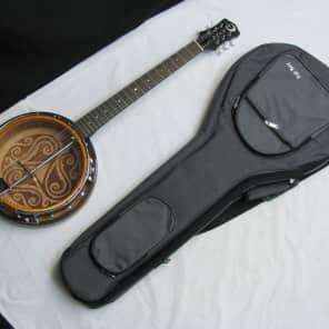 LUNA BGB Celtic 6-string Bluegrass Resonator BANJITAR banjo GUITAR new w/ Gig Bag for sale