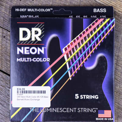 DR Neon Multi-Color 45-125 Bass Strings