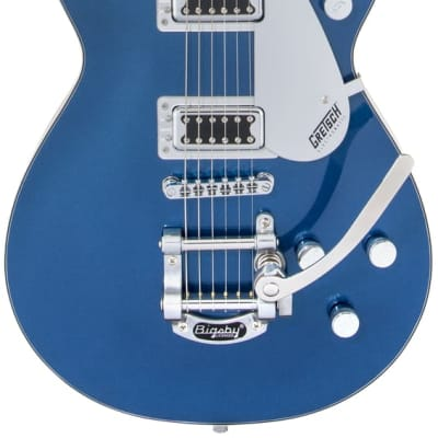 Gretsch G5230T Electromatic Jet FT Single-Cut with Bigsby in Aleutian Blue with Black Walnut Fingerb for sale