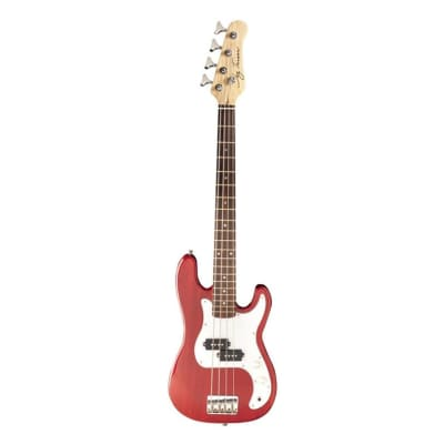 Jay Turser JTB-40 Series 3/4 Electric Bass Guitar - Trans Red for sale