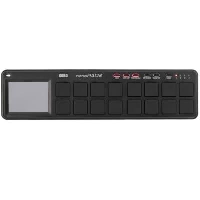 Korg NanoPad2 Slim-Line USB Drum Pad Controller Black