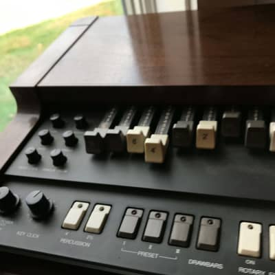 Korg CX-3 and  Leslie 760 with preamp