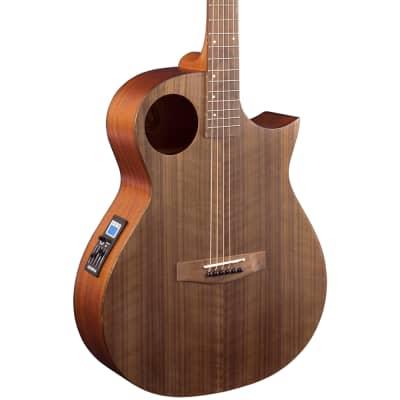 Lindo Neptune SE V2 Electro Walnut Acoustic Guitar | F-4T Preamp EQ Chromatic Tuner & Padded Gigbag for sale