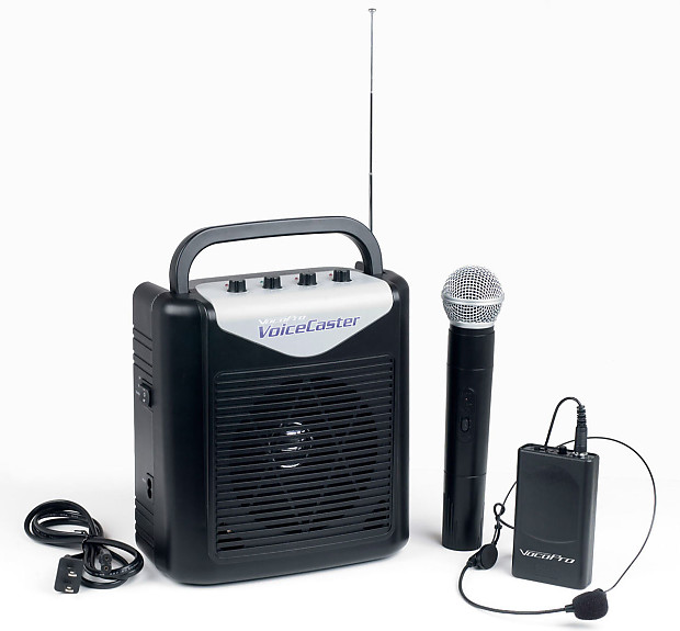 Rechargeable Portable PA System w  Wireless Mic   Headset  446f1604c6ea4