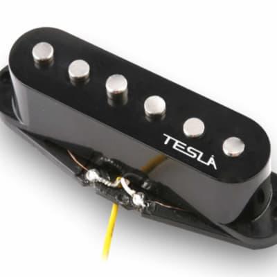 Tesla VR1 Single Coil Guitar Pickup - Middle / Black