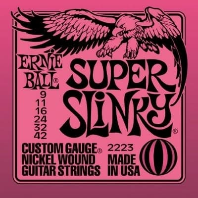 Ernie Ball Super Slinky Electric Guitar Strings - 9's