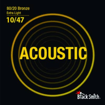 Blacksmith 6 String 80/20 Bronze Acoustic Guitar Strings - Extra Light 10-47 for sale
