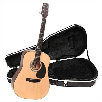 Santa Rosa K539 Acoustic 41-Inch Dreadnought Guitar and Molded Case for sale