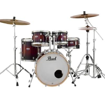 Pearl Decade Maple Deep Redburst 20x16/10x7/12x8/14x14/14x5.5 Shell Pack Drums + HWP930 Hardware Set