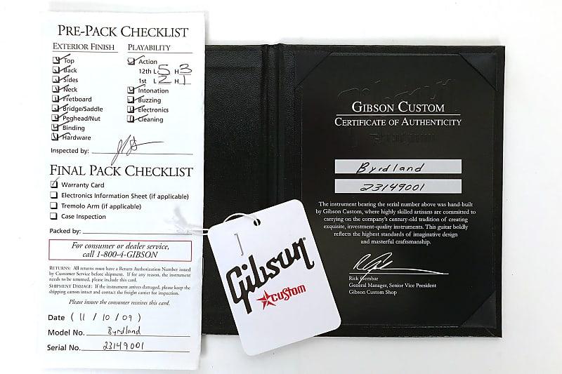 Gibson Dating Custom Shop