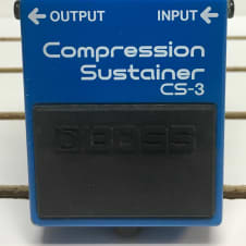 Boss CS-3 Compression Sustainer Guitar Effects Pedal Made In Japan Blue Compressor MIJ