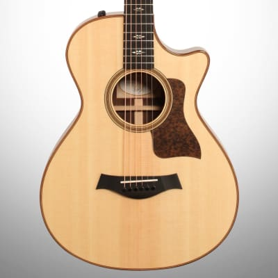 Taylor 712ce 12-Fret Grand Concert Acoustic-Electric Guitar (with Case), Natural