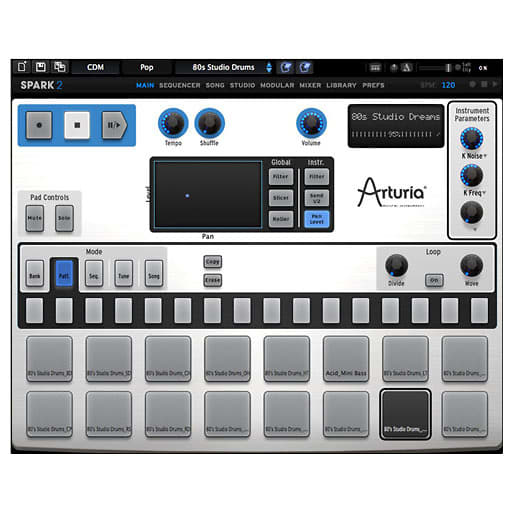 arturia spark 2 virtual drum machine download reverb. Black Bedroom Furniture Sets. Home Design Ideas