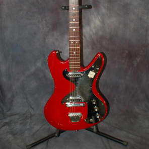 1960's Victor Model EG-35 Dual Pickup Mirror'd Pickguard Pro Setup RED for sale