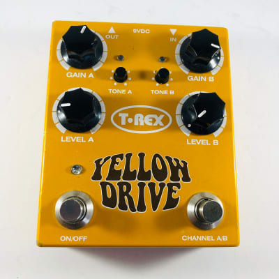T-Rex Yellow Drive Dual Channel Distortion Pedal *Sustainably Shipped*