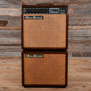 Mesa Boogie Mark III Red Stripe 1x12 Combo w/1x12 Extension Cabinet Hardwood 1987 USED for sale