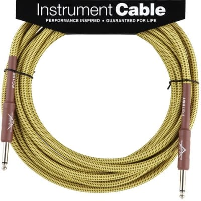 Fender Custom Shop Performance Series Cable, 18.6', Tweed for sale