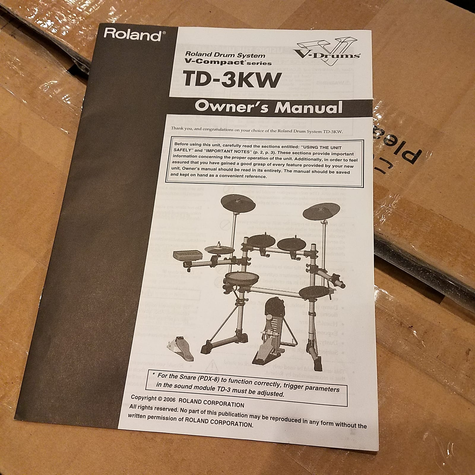 Roland V Drum TD-3KW Kit w Boxes