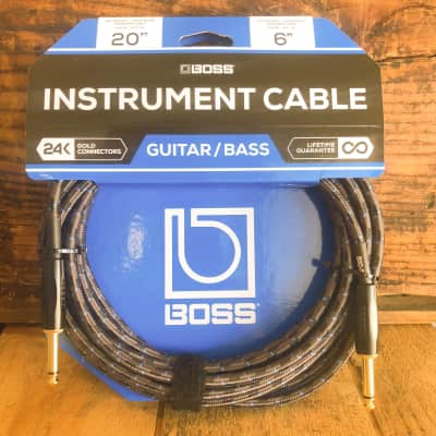 Boss Instrument Cables - 20' Straight/Straight