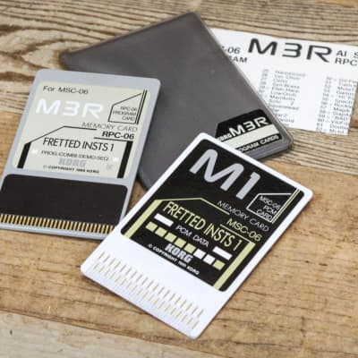 Korg RSC-06S Fretted Instruments 1 ROM Card Set for M3R RPC-06/MSC-06