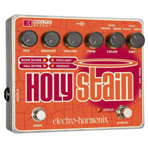 Electro Harmonix Holy Stain Distortion/Reverb/Pitch/Tremolo Multi-Effect Pedal for sale