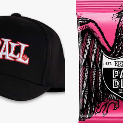 Ernie Ball ERNIE BALL 1962 LOGO HAT L/XL/Paradigm 9-42 x Two Sets for sale