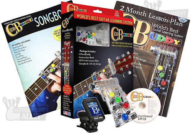 ChordBuddy Guitar Learning Teaching System w/ Books and DVD | Reverb