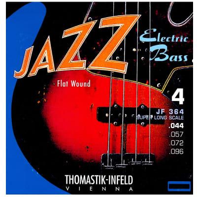 Thomastik-Infeld JF364 Jazz Flat Wound Nickel Roundcore Bass Strings - Medium (.44 - .96)