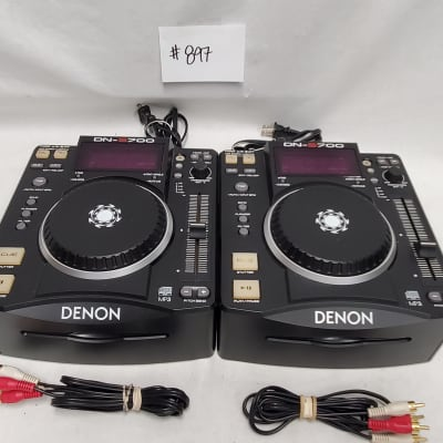 Denon DJ DN-S700 Compact CD/MP3 Disc Players Sold As A Pair #897 Final Sale - REPAIR Needed -