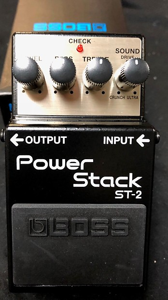 boss st 2 power stack distortion guitar effects pedal reverb. Black Bedroom Furniture Sets. Home Design Ideas