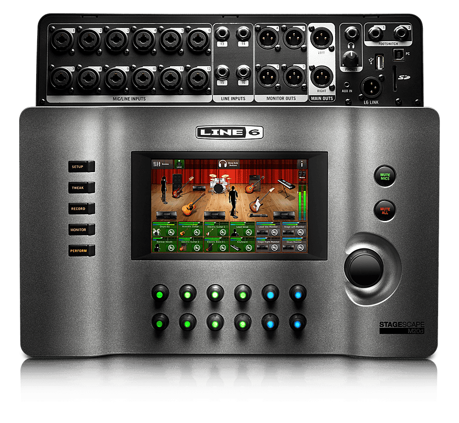 line 6 stagescape m20d 20 channel digital mixer reverb. Black Bedroom Furniture Sets. Home Design Ideas
