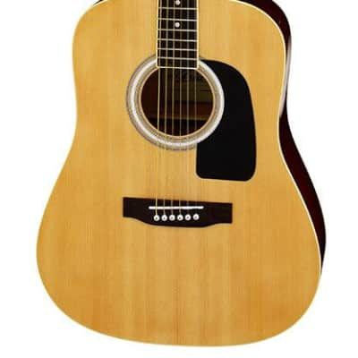 Aria AW-15 Dreadnought Acoustic Guitar in Natural Gloss for sale