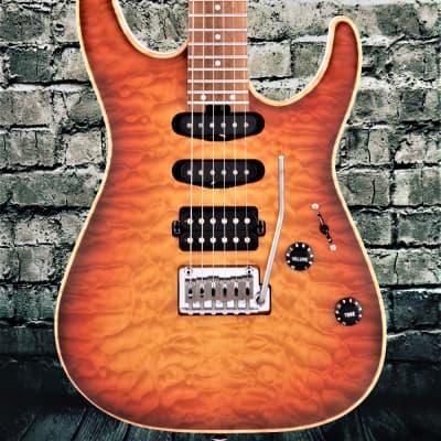 Charvel USA DK24 HSS 2PT CM QM Autumn Glow for sale