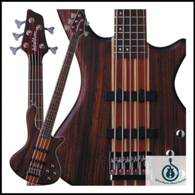 Washburn T25 Natural Matte Mahogany Bass w/ Free Gig Bag & Free Shipping for sale