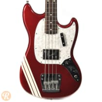 Fender Pawn Shop Mustang Bass 2010s Candy Apple Red with Competition Stripe image