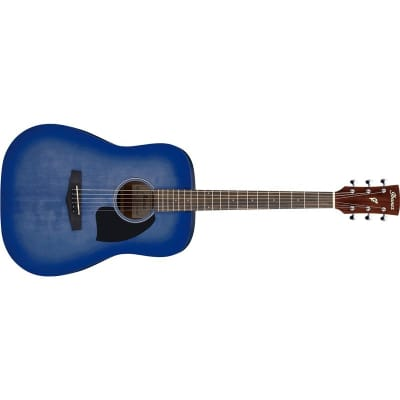 Ibanez PF18 Performance Dreadnought Acoustic, Washed Denim Burst Open Pore for sale
