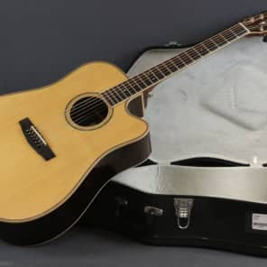 Cort AS-M5 NAT Solid Sitka Spruce/Rosewood Dreadnought Cutaway with Electronics Natural Glossy
