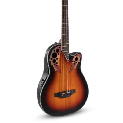 Ovation CEB44-1N Celebrity Elite Exotic Mid Depth Mahogany Neck 4-String Acoustic Bass Guitar for sale