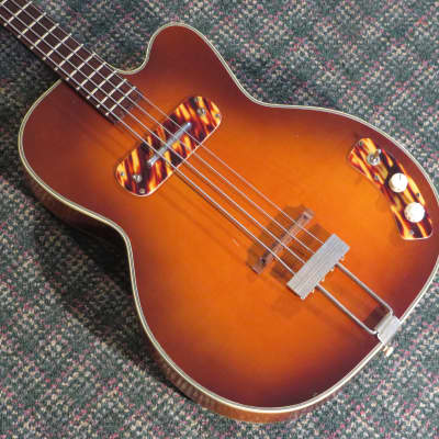 1950s Kay K162 Hollowbody Bass! w/hardshell case for sale