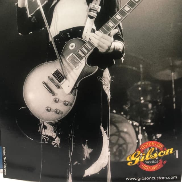 GIBSON Origional Jimmy Page introduction card Issued by Historic Custom art division of Gibson . image