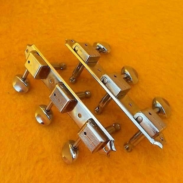 Magnificent Kluson guitar tuners on a strip