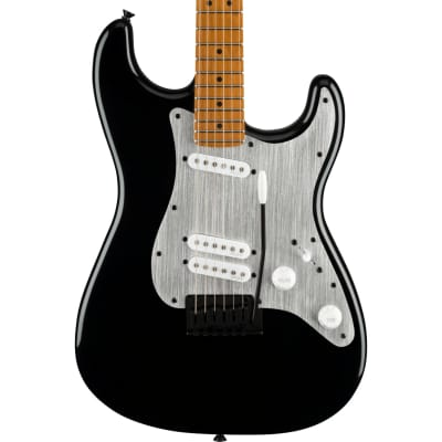 Squier Contemporary Stratocaster Special Roasted Maple Fingerboard Silver Anodized Pickguard Black Electric Guitar