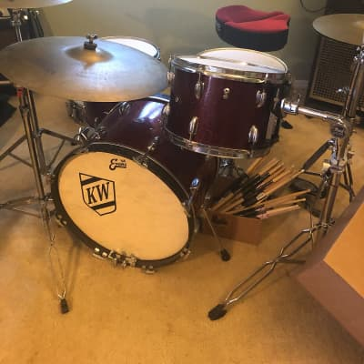 Slingerland Drums 1963-1965 Red sparkle