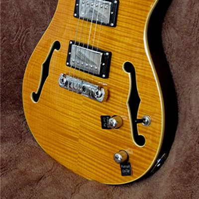 P R S style  in Lemon Drop  with 5A Flame Maple top ( Last one) by Dillion for sale