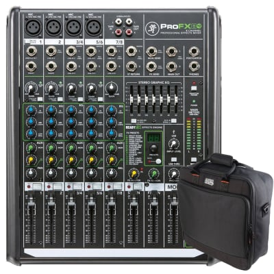 3fd3ed5e91 Brand New · Mackie ProFX8v2 8-Channel PA Mixer with Gator G-MIXERBAG-1515  Mixer