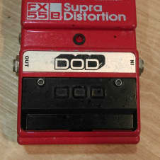 DOD Supra Distortion FX55-B 1980s Red/Silver
