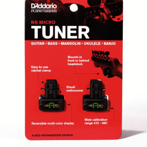 2 Pack / Twin Pack | Planet Wave NS Mini Headstock Tuner (PW-CT-12)