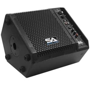 "Seismic Audio SAX-8M-PW Compact Powered 1x8"" 150w 2-Way Titanium Horn Speaker"